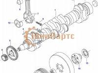 Комплект поршневых колец двигателя Sisu Diesel — 836640078