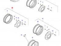 Передний колесный диск - W8x32(DANA 730 MONOL) — 35843000