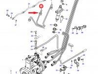 Топливная трубка второго цилиндра двигателя Sisu Diesel — 836862058
