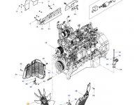 Крыльчатка (вентилятор) радиатора двигателя трактора Massey Ferguson (вентилятор+вискомуфта) — ACW0048440