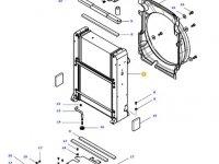 Радиатор двигателя трактора Massey Ferguson (Водяной радиатор+интеркулер) — ACW0052140
