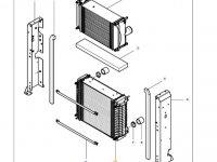 Радиатор двигателя трактора Massey Ferguson — ACW0052150