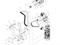 Ремень генератора двигателя трактора Massey Ferguson — ACW0100750