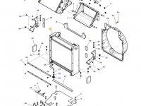 Радиатор двигателя трактора Massey Ferguson — ACW043462A