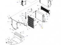 Радиатор двигателя трактора Massey Ferguson — ACW1411270