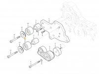 Натяжной ролик ремня двигателя трактора Massey Ferguson — ACW153929A