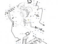 Прокладка турбокомпрессора двигателя трактора Massey Ferguson — ACW3397620