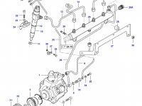 Топливная трубка третьего цилиндра двигателя Sisu Diesel — 837070301