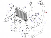Патрубок интеркулера двигателя Sisu Diesel — 36450400
