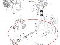 Водяной насос охлаждения двигателя Sisu Diesel — 836866632