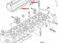 Прокладка клапанной крышки двигателя Sisu Diesel — 836667243