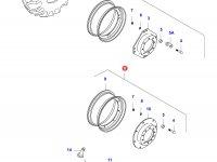 Передний колесный диск - DW16Lx30(GKN, 50km/h, **) — 37004600
