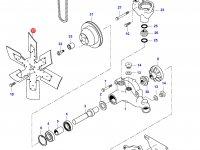 Крыльчатка (вентилятор) радиатора двигателя Sisu Diesel — 836140044