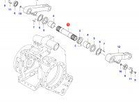 Вал рычагов навески трактора (Z=35) — 35118100