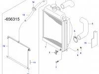 Верхний патрубок радиатора двигателя Sisu Diesel — 616790