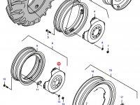 Вставка заднего колесного диска трактора — 33618900