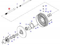 Вал гидравлического сцепления КПП — 34074300