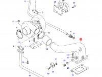 Патрубок турбокомпрессора двигателя Sisu Diesel — 836847893