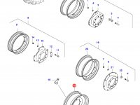 Передний колесный диск - DW12x28(*KINT. FIXED, Rxx) — 35768800