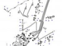 Топливная трубка шестого цилиндра двигателя Sisu Diesel — 836862062