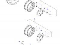 Передний колесный диск - W8Lx36(LP, *, P21230) — 34620700