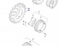 Передний колесный диск - W9x18 (665MOD) — 33153000