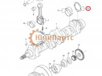 Упорная шайба коленвала двигателя Sisu Diesel — 836840945