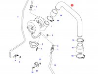 Патрубок турбокомпрессора двигателя Sisu Diesel — 836646975
