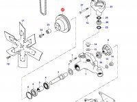 Шкив водяного насоса двигателя Sisu Diesel — 836764243