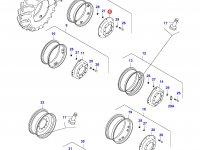 Вставка переднего колесного диска трактора — 31732710