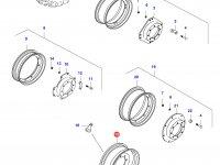 Передний колесный диск - DW15x28(DANA 730 MONOL, Rxx) — 35648900