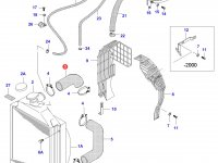 Верхний патрубок радиатора двигателя Sisu Diesel — 33065110