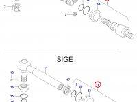 Шарнирный наконечник рулевой тяги трактора — 31059800