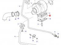 Фланец турбокомпрессора двигателя Sisu Diesel — 836866376