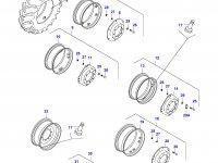 Вставка переднего колесного диска трактора — 34646600
