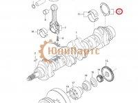 Упорная шайба коленвала двигателя Sisu Diesel — 836119459
