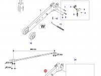 Правая тяга навески трактора (L=940, N10136-) — 35471410