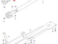 Крестовина карданного вала привода переднего моста - 27x82,5mm — 30433200