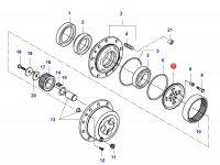 Солнечная шестерня редуктора моста — 34056200