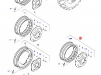Задний колесный диск - TW20Bx42 (GKN) — 39837000