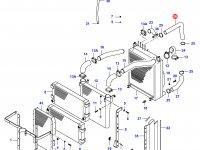 Верхний патрубок радиатора двигателя Sisu Diesel — 34040210