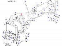 Верхний патрубок радиатора двигателя Sisu Diesel — 34595500