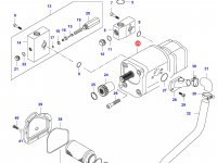 Гидравлический насос трактора — 34387300