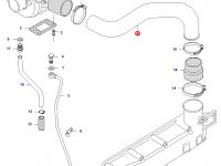 Патрубок турбокомпрессора двигателя Sisu Diesel — 836655734
