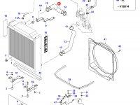 Верхний патрубок радиатора двигателя Sisu Diesel — 36419300