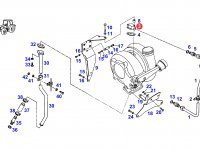 Фланец турбокомпрессора двигателя трактора Fendt — F524200090160