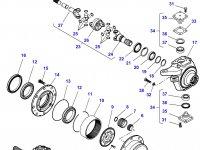 Крышка бортового редуктора(бортовой) переднего моста трактора Challenger — F650153021490