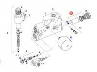 Бумажный фильтр-вставка гидрораспределителя трактора Fendt — F716961020010