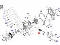 Термостат двигателя трактора Fendt — F824200050060