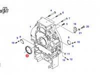 Задний сальник коленвала двигателя трактора Fendt — F824200210180